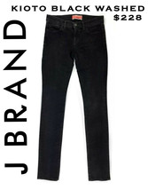 J. BRAND Boutique KYOTO Skinny Jeans BLACK WASHED  Sz 27   $228 - $24.74