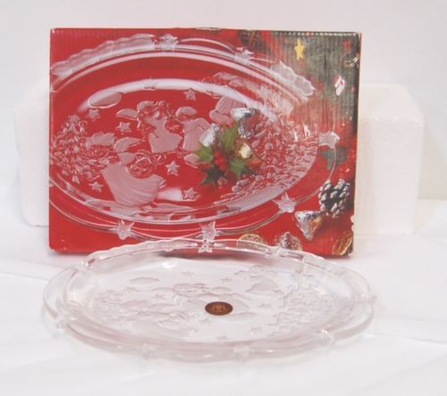Original Waltherglas 32267 Oval Plate Chirstmas Season 9 Inches