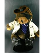 "OZ Enterprises 1997 LoneStar Teddy Bear Plush Jointed 18"" BOOTS Cowboy R... - $99.00"