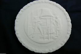 VTG Fenton White MIlk Glass Mate #4 in series of 4 Bicentennial 1776-1976 Plate - $35.00