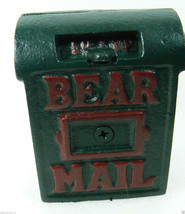 NWT Boyds Bears Accessory Braxton's Bearmail Cast Iron Mail Box Bank Retired - $28.00