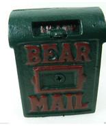 NWT Boyds Bears Accessory Braxton's Bearmail Cast Iron Mail Box Bank Ret... - $28.00