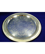VTG W.M. Rogers Silver Plated Serving Tray Detailed Etchings Hallmarked ... - $49.00