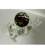 Austrian 32% Full Lead Crystal Forest Collector's Circus Seal w Ball Fig... - $69.00