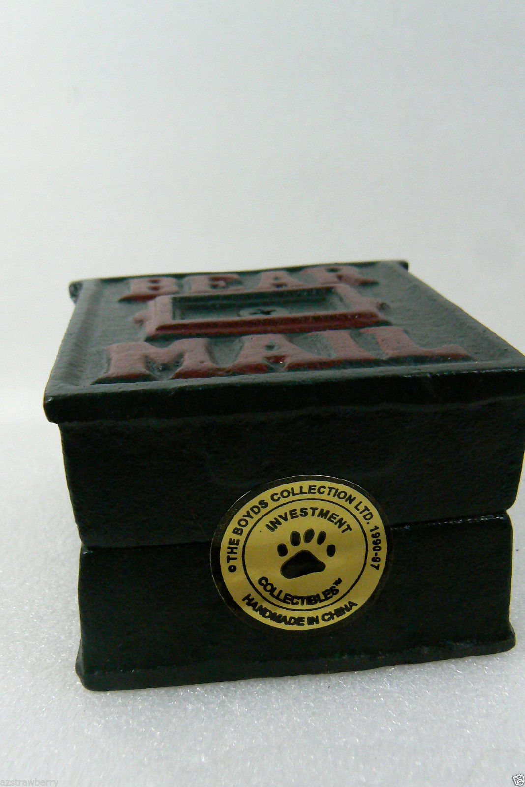 NWT Boyds Bears Accessory Braxton's Bearmail Cast Iron Mail Box Bank Retired