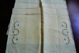VTG Set of 4 Pretty Table Placemats Yellow Cotton Linen Embroidery Floral - $30.00