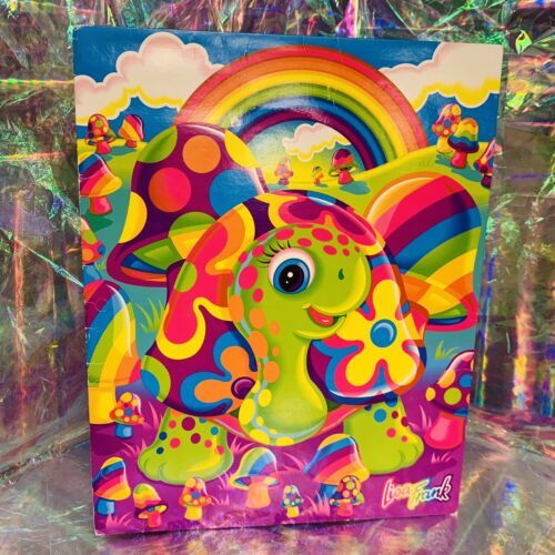 WOW GREAT VTG LISA FRANK Peekaboo Turtle Folder 90-00s Very Nice
