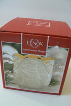 "LENOX Bone China Merry Lights Snowman Votive tea light Candle Holder 3.5"" NIB - $31.50"
