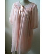 Vintage Glamour Lingerie Nylon Chiffon Peignoir Robe & Nightgown Gown Se... - $120.00