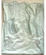 VTG Elegance Vanity Fair Blue lace nylon tricot sz 32 Slip Gown Lingerie - $85.00