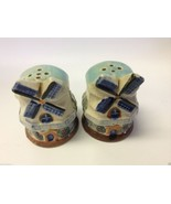 VINTAGE JAPAN Signed WINDMILL SALT & PEPPER SHAKERS Set / Pair w CORKS - $28.00