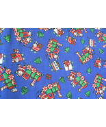 Winter Christmas Holiday Santa Claus Cotton Quilting Sewing Fabric 4.5 y... - $45.00