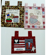 Lot of 3 Blessed House with friends America Hand crafted quilted wall ha... - $52.00