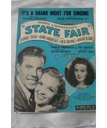 VTG 1945 STATE FAIR ROGERS HAMMERSTEIN VIVIAN BLAINE CRAIN  SHEET MUSIC ... - $35.00