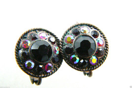 Intricate Red Crystal clip on earrings $0 sh - $31.96
