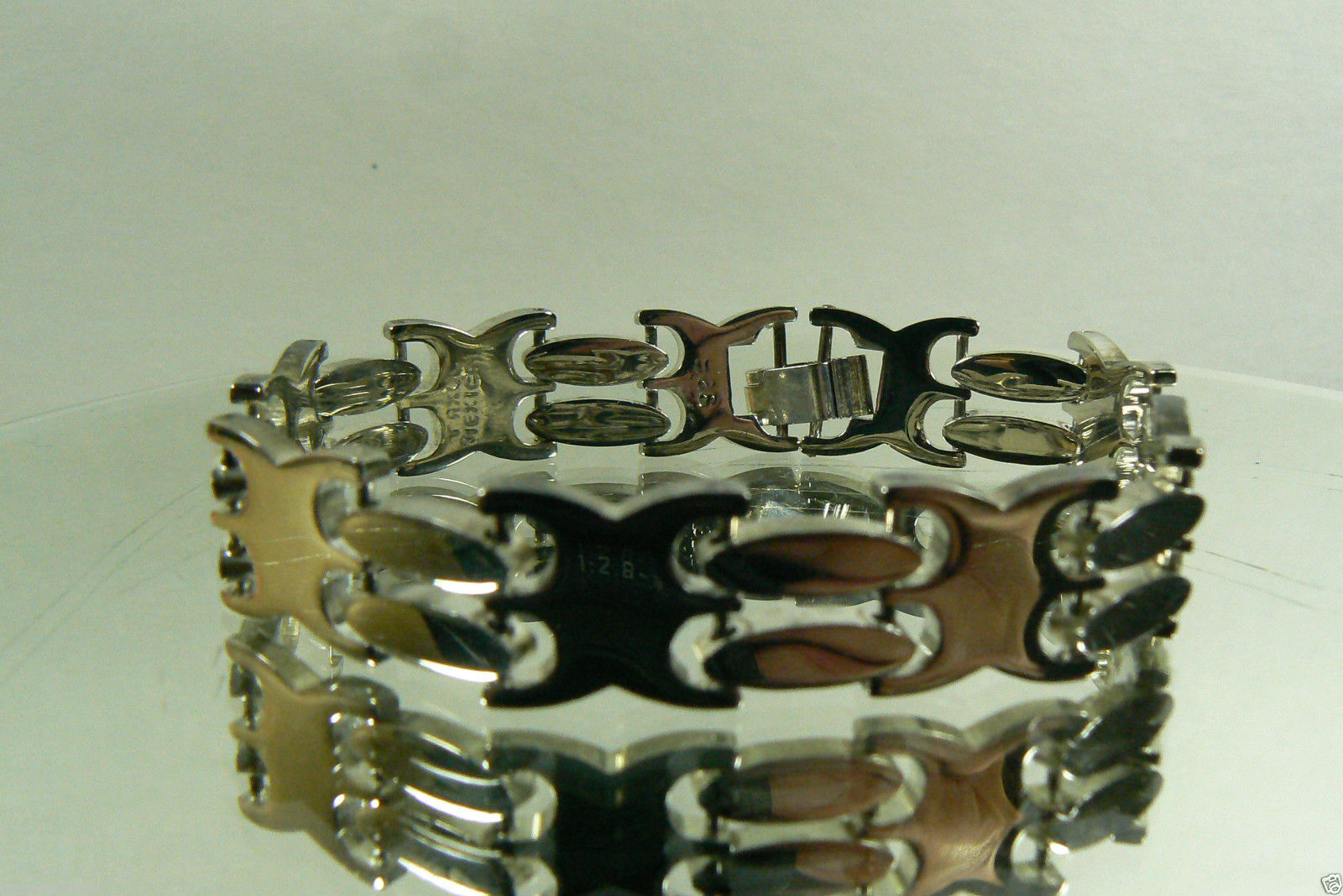 "Primary image for STERLING SILVER 925 TAXCO MEXICO LINK BRACELET 7.25""L"
