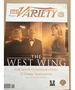 Daily Variety  Aug 28 2002 The West Wing  back issue magazine TV Show ne... - $30.00