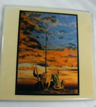 "A.R.T. CERAMIC ART TILE TRIBUTE BY TIMOTEO IKOSHY MONTOYA 8""X8"" SCULL SU... - $69.00"