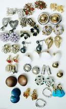 Lot of  25 Vtg Retro multi-color Enamel Beads Crystal Designers Clip on ... - $52.00