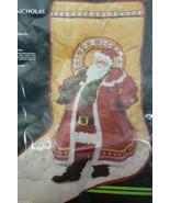 Monarch Horizons Antique Saint Nicholas Sculptures Stitchery Christmas S... - $75.00