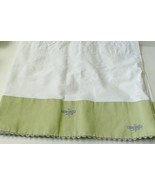 Pottery Barn Kids Lily Lavender Dragonfly Window  Valance Lined White Sa... - $45.00