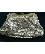 Vintage Whiting & Davis Gold Metal Mesh small Evening Clutch Purse Bag USA - $95.00