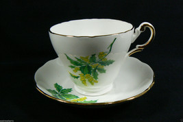 Regency made in England Bone China green Floral Tea Cup & Saucer set - $39.00