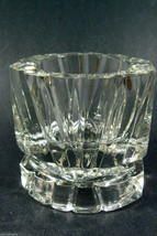 Vintage Heavy Clear Glass Candlestick Holder or Paperweight signed AVON ... - $25.00