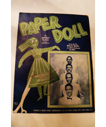 VTG 1930 Paper Doll by Johny Black Sung by Mills Bros 1943 Sheet Music - $30.00
