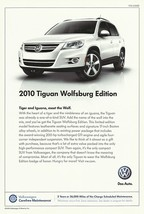 2010 Volkswagen TIGUAN WOLFSBURG Edition sales brochure sheet US 10 VW - $9.00
