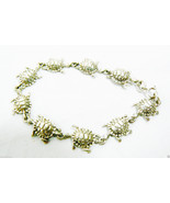 "Cute Sterling Silver 925 Turtle Figural Link Bracelet 8""L - $71.20"