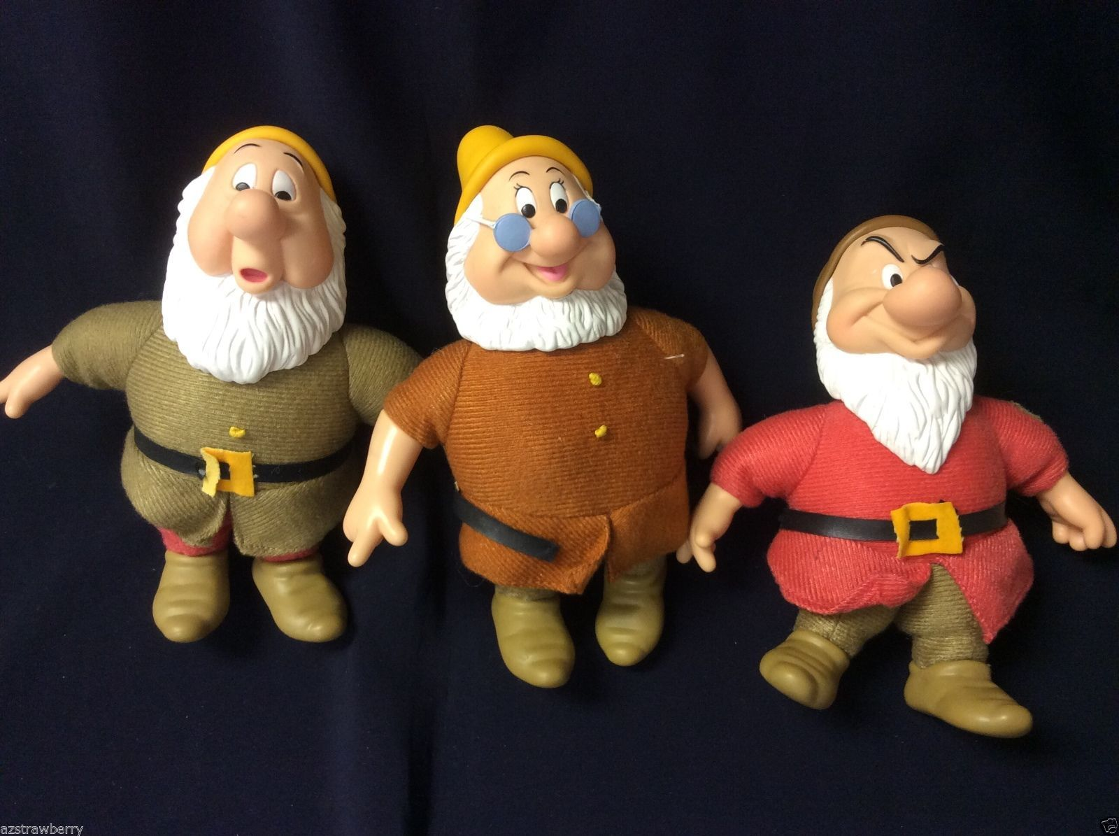 Primary image for Walt Disney lot of 3 soft  Plush Toy Doll by Applause Snow White & seven Dwarfs