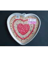 "Wilton BIG Valentine Heart shaped Cake Pan Cookie Pan Giant  1998"" - $19.55"