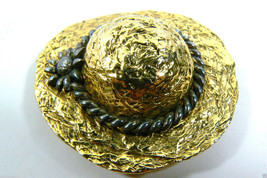 PREMIER DESIGN HALLMARK TWO TONE GOLD & SILVER TONE METAL HAT PIN BROOCH - $49.00