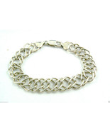 """STERLING SILVER 925 INTRICATE LINK LOBSTER CLAW CLASP BRACELET 7.5"""" $0 S... - $103.20"""