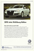2010 Volkswagen JETTA WOLFSBURG Edition sales brochure sheet US 10 VW - $9.00