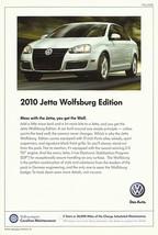 2010 Volkswagen JETTA WOLFSBURG Edition sales brochure sheet US 10 VW - $8.00