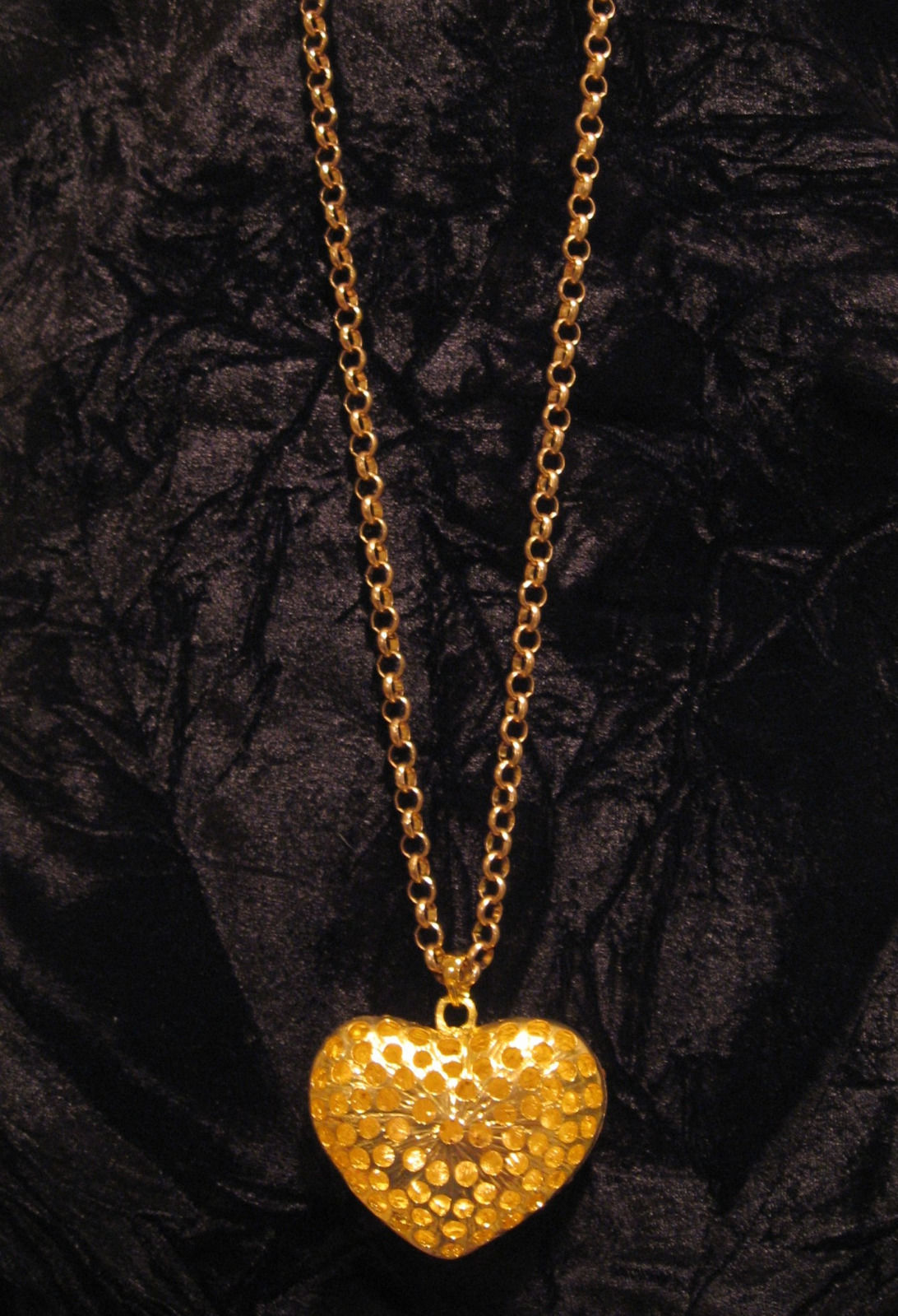 "Primary image for Gold Tone Reversible Heart Necklace With 28"" Chain"