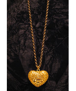 "Gold Tone Reversible Heart Necklace With 28"" Chain - $12.95"