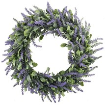 "Lavender Wreath Spring Floral 18"" Wreath Front Door Home Decor - $29.65"