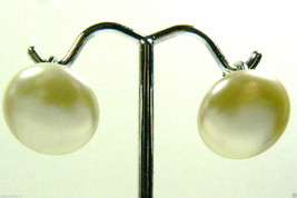 Sarah Coventry Cov Signed White Pearl Faux Silver Tone Clip Earrings $0 Shipping - $23.96