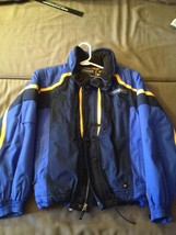 Kids Youth Spyder Jacket Blue Yellow Size 14 Worn 3 times - $115.95