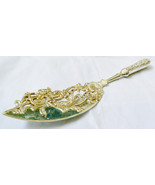 "Fancy pierced  figural Serving Fish Table Spoon Antique Silver Plate 12""L - $89.00"