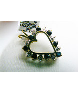 1 ctw genuine Sapphire & Diamond 10k yellow gold Heart Pendant $350 New ... - $259.00