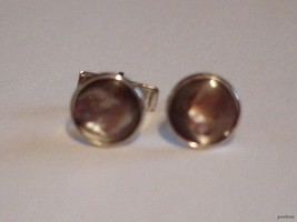 Vintage Men's Cufflinks Patent Pend Gray glass Stone All Occasion Unsigned - $15.79
