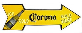 "29"" Hand Carved CORONA ICE COLD SERVED HERE ARROW Beer Wooden Wall Hangi... - $44.49"