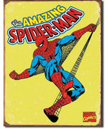 Marvel - Spiderman Spider-Man Retro Comic Comics Tin Metal Sign - $16.80