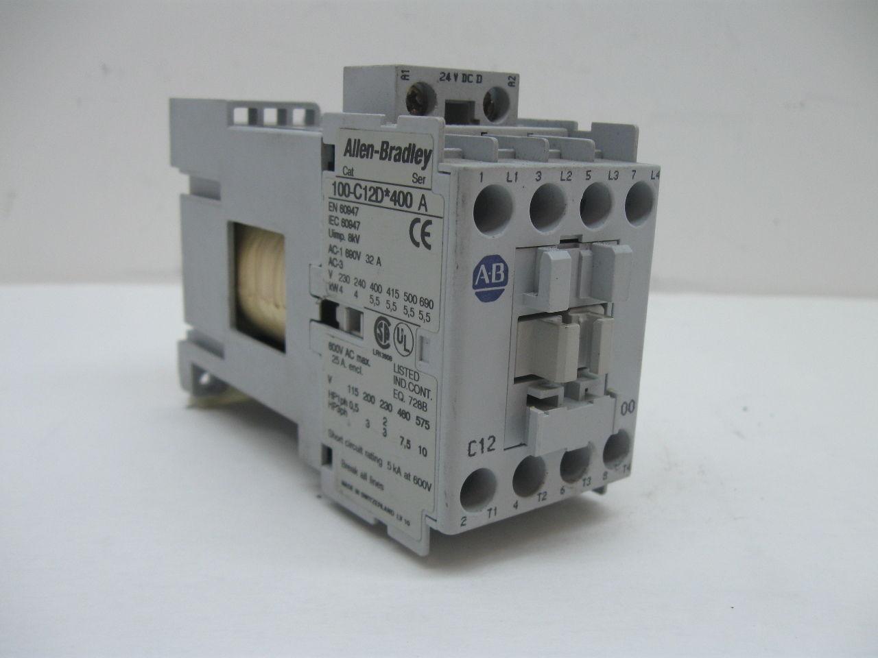 Allen Bradley 100 C12d 400 Contactor Motor Starter Other