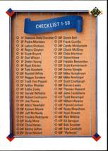 1991 Upper Deck Rokie Checklist #1 (MT) Baseball Card - $0.10