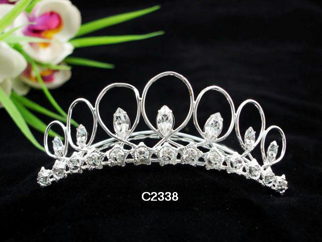 Primary image for WEDDING TIARA,SWAROVKI BRIDAL COMB BRIDE BRIDESMAID RHINESTONE HAIR COMB 2338